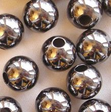 Black Plated Beads 8mm Round - 10
